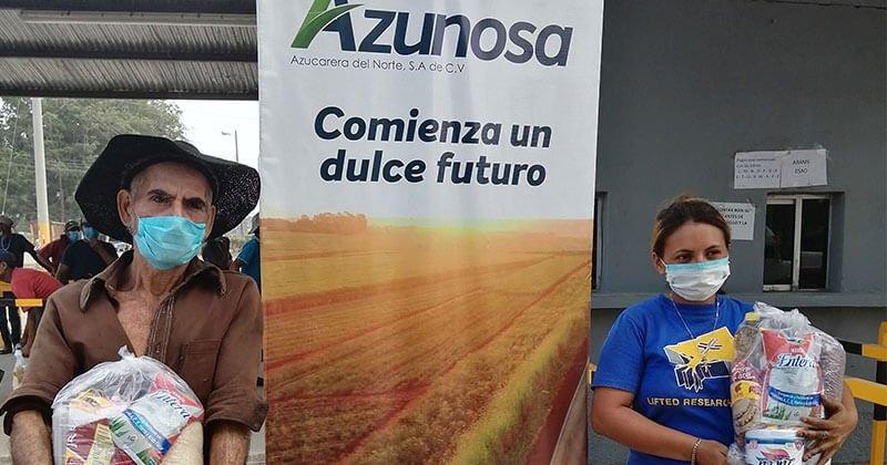 AZUNOSA apoya con alimentos a comunidades vecinas